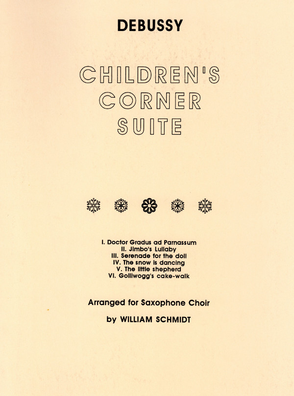 Debussy Children S Corner Golliwogg S Cake Walk