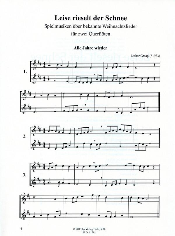 Bekannte Weihnachtslieder.Graap Lothar Arr