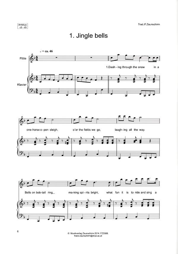 Zaunschirm, Franz (Arr) - 11 Weihnachtslieder für Flöte(n) mit vier ...